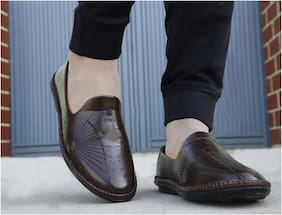 WIN9 Loafers For Men ( Brown )