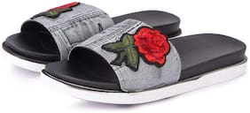 WMK Women Black Flip Flops