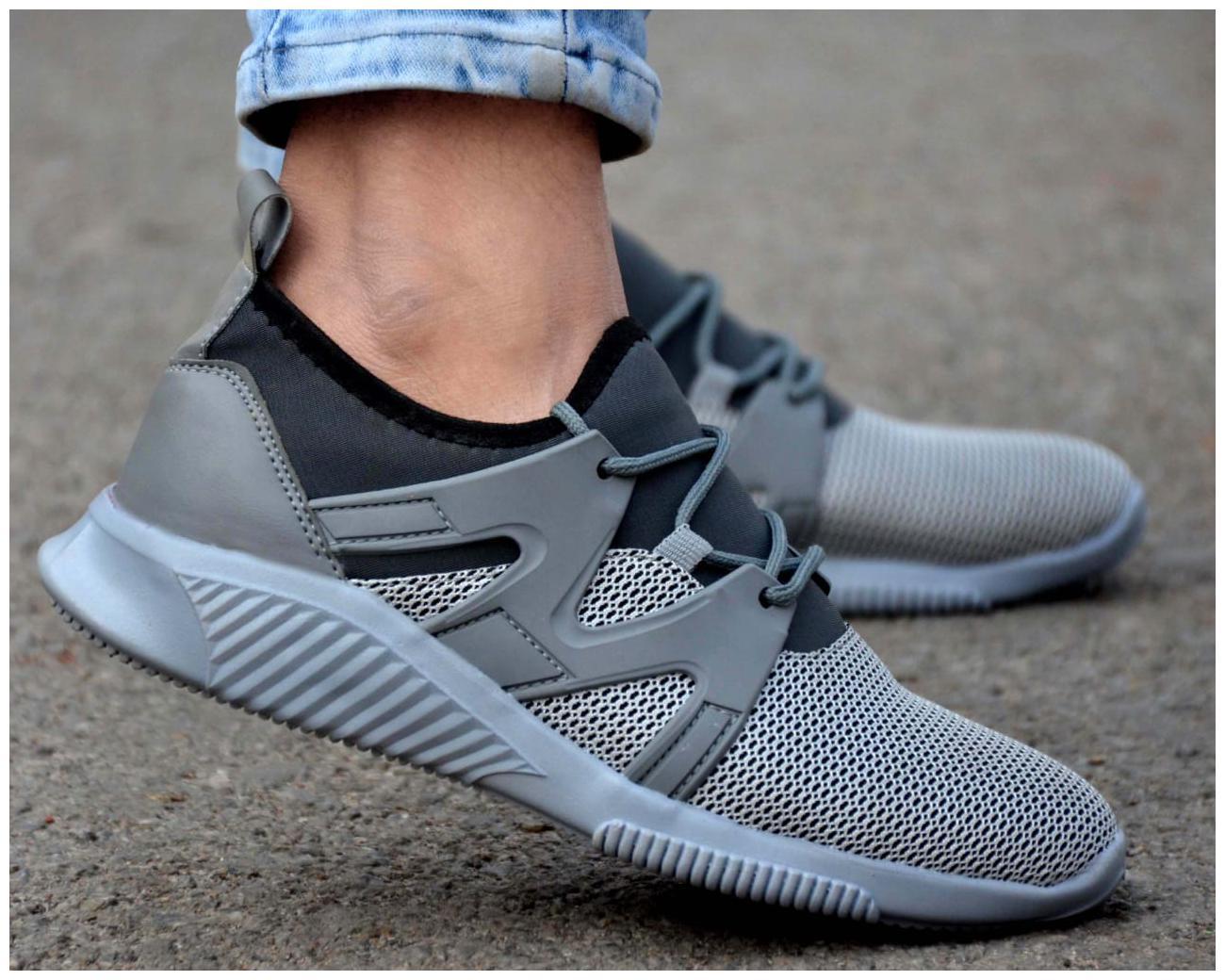 Woakers Men's Grey Sport Shoes