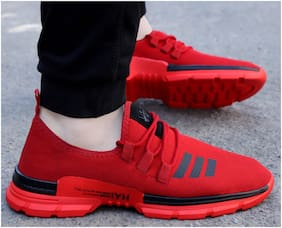 WOAKERS Men Running Shoes ( Red )