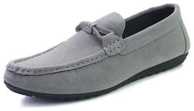 Wolven Men Grey Loafers - WOL5228C-4GRY - WOL5228L-FAB -C-GRAY