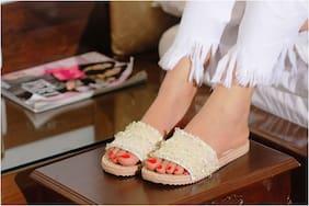 Imported Lime Women's Slippers & Flip flops