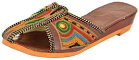Women's Maroon Ethnic Footwear