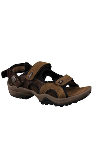 5dd4e4402e03 Buy Woodland Men Brown Sandals   Floaters Online at Low Prices in ...