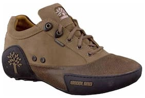 Woodland Khaki Brown Casual Shoes