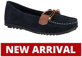 Woodland LADIES NAVY Loafers