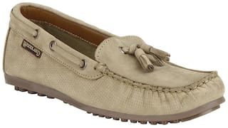 Woodland Women Brown Loafers