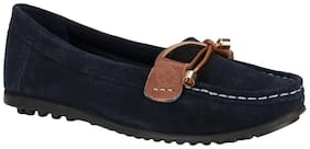 Woodland Women Blue Loafers