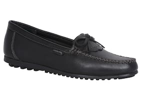 Woodland Leather Loafers For Women