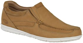 Woodland Men Yellow Loafers