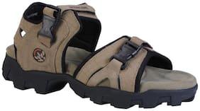 Woodland Men Khaki Sandals & Floaters