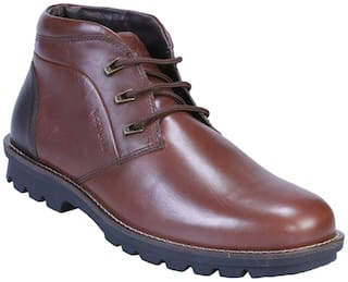 Woodland Men Brown Chukka Boots - MID ANKLE - GB 2271116 BROWN