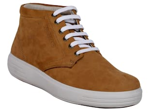 Woodland Men Brown Sneakers - Woodland Men's Gb 2519117 Camel Casual Boot