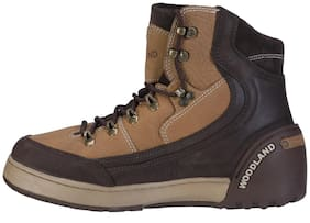Men Cream Outdoor Boots
