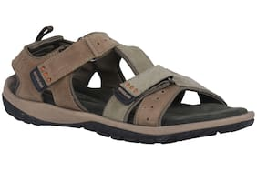 Woodland Men Brown Sandals