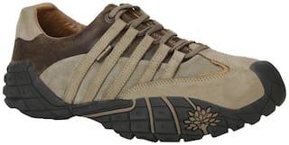 Woodland Men Brown Casual Shoes - Woodland men's gc 0466107y14 khaki casual shoes