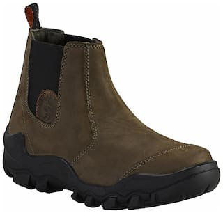 Woodland Men Green Outdoor Boots - OGB 2976118 - OGB 2976118 OLIVE GREEN