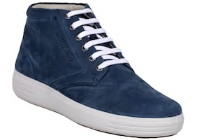 Woodland Men Blue Sneakers - Woodland Men's Gb 2519117 Blue 1 Casual Boot
