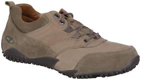 Woodland Men Brown Casual Shoes - Woodland Men's Ogc 2706117 Khaki Casual Shoes