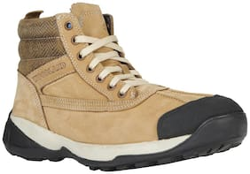 Woodland Men Gold Ankle Boots