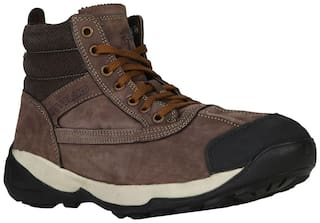 Woodland Men Brown Ankle Boots - WOODLAND MEN'S BROWN CASUL SHOES - GC 1336113 BROWN
