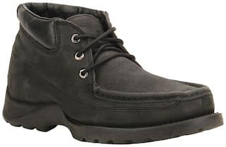 Woodland Men's BLACK Casual Shoes