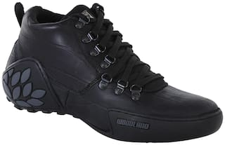 Woodland Men Black Outdoor Boots - GC 1869115 BLACK - GC 1869115 BLACK