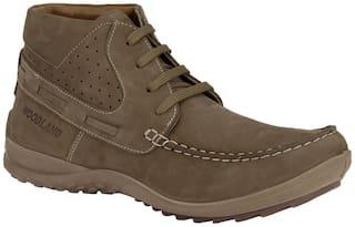 Woodland Men Brown Ankle Boots - OGC 1180112 TOBACCO M11 - OGC 1180112 TOBACCO M11