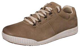 Woodland Men's Maroon/Black Leather Shoes - 42 EU
