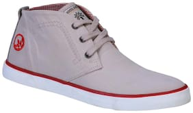 Woodland Men Beige Sneakers