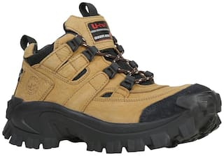 Woodland Men Tan Outdoor Boots - LOW ANKLE