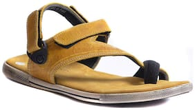 Woodland Men Gold Sandals