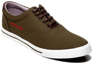 Woodland Men Green Sneakers