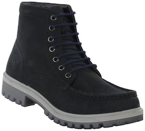 Men Navy Blue Outdoor Boots