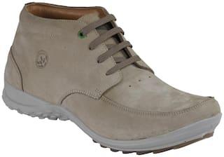 Woodland Men Beige Casual Shoes
