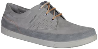 Woodland Men Grey Casual Shoes