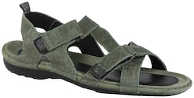 Woodland Men Green Sandals