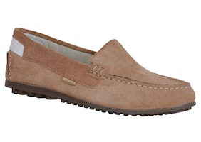 Woodland Suede Loafers For Women