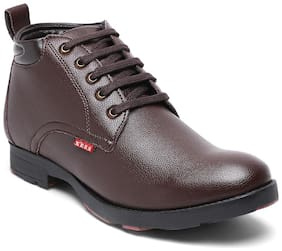 Xess by Id Men Brown Outdoor Boots - XS1005BROWN - XS1005BROWN