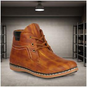 YALA Men Tan Ankle Boots - YALA-101-TEN-BOOT