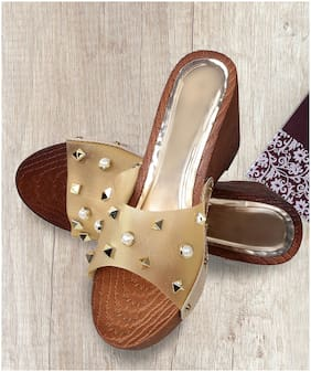 Zappy Women Gold Wedges