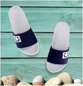 Zappy Women Blue;White Slippers
