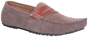 Zebx Men Grey Loafer
