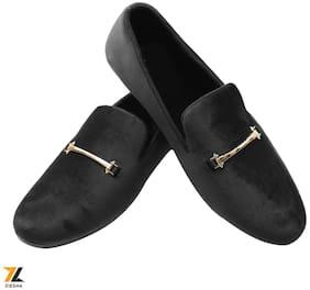 Ziesha Men Black Loafers - ZMS1025BLACK_9