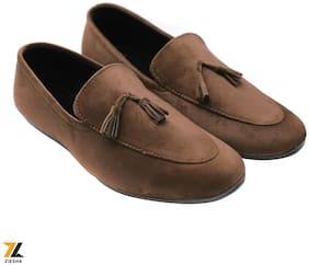 Ziesha Men Brown Loafers - ZMS1024BROWN_9