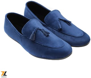 Ziesha Men Blue Loafers - ZMS1024BLUE_9