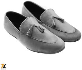 Ziesha Men Grey Loafers - ZMS1024GREY_10