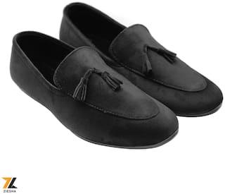 Ziesha Men Black Loafers - ZMS1024BLACK_7