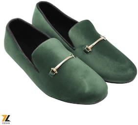 Ziesha Men Green Loafers - ZMS1025GREEN_9