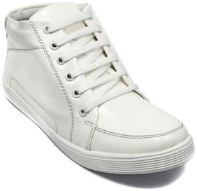 Ziesha Men White Ankle Boots